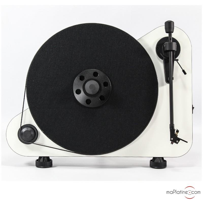 image d'une platine vinyle vte project blanche