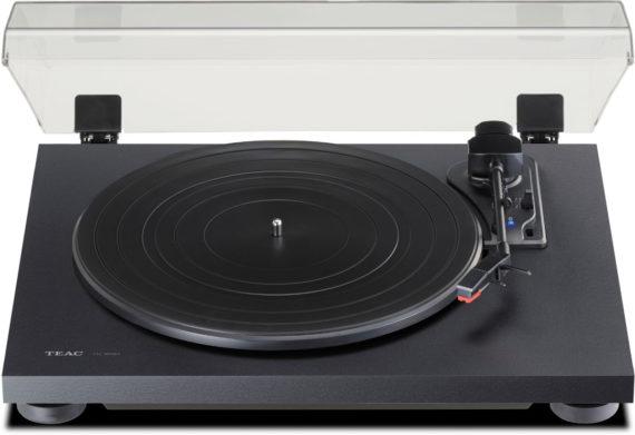 image d'une platine vinyle teac tn 180bt noir ou bois