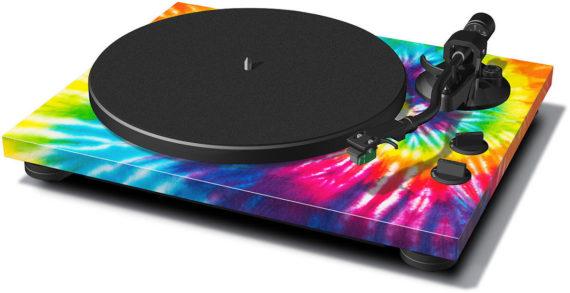 image d'une platine vinyle teac tn-420 tie and dye / multicolore