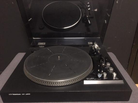 Image d'une platine vinyle Teleton modele P600