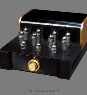 Image d'un amplificateur à lampes/ tubes pier audio ms 84 se gold/noir